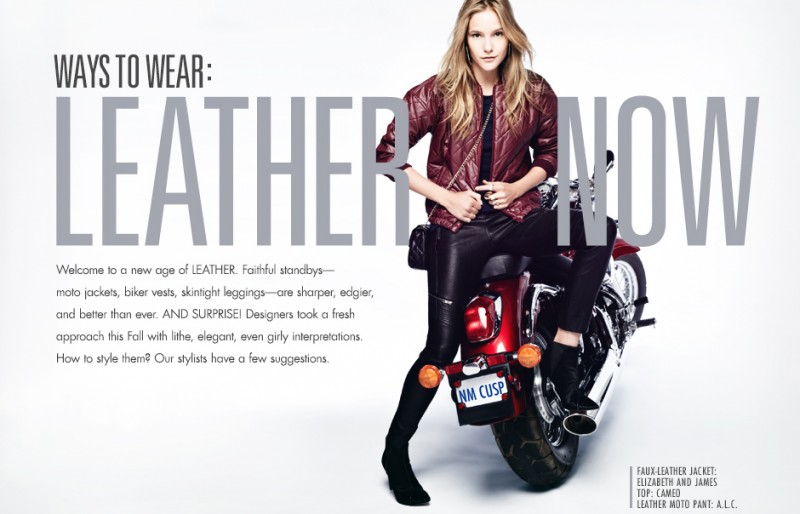 leather neiman marcus1 800x514 Dorothea Barth Jorgensen Wears Leather for Neiman Marcus Trendbook by Wendy Hope