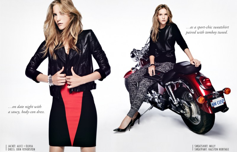 Dorothea Barth Jorgensen Wears Leather for Neiman Marcus Trendbook by Wendy Hope
