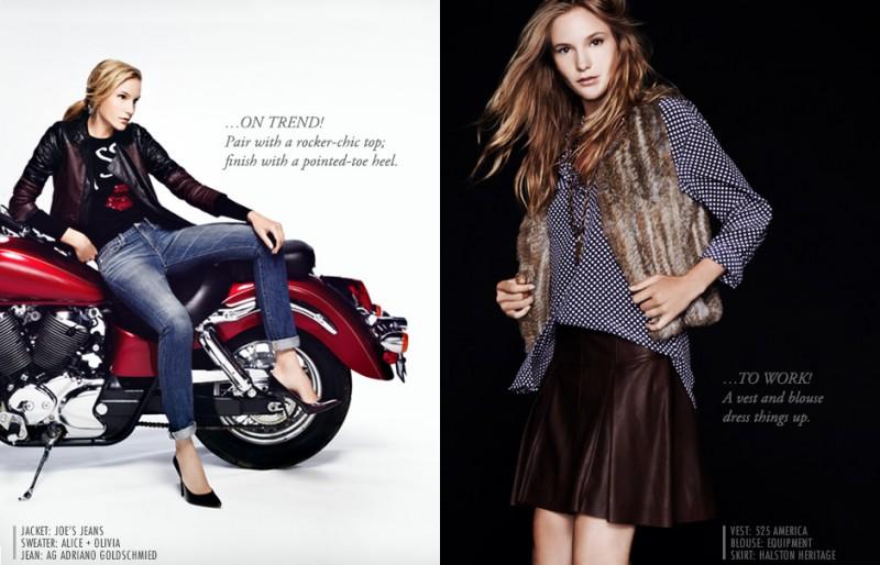 Dorothea Barth Jorgensen Wears Leather for Neiman Marcus Trendbook by Wendy Hope