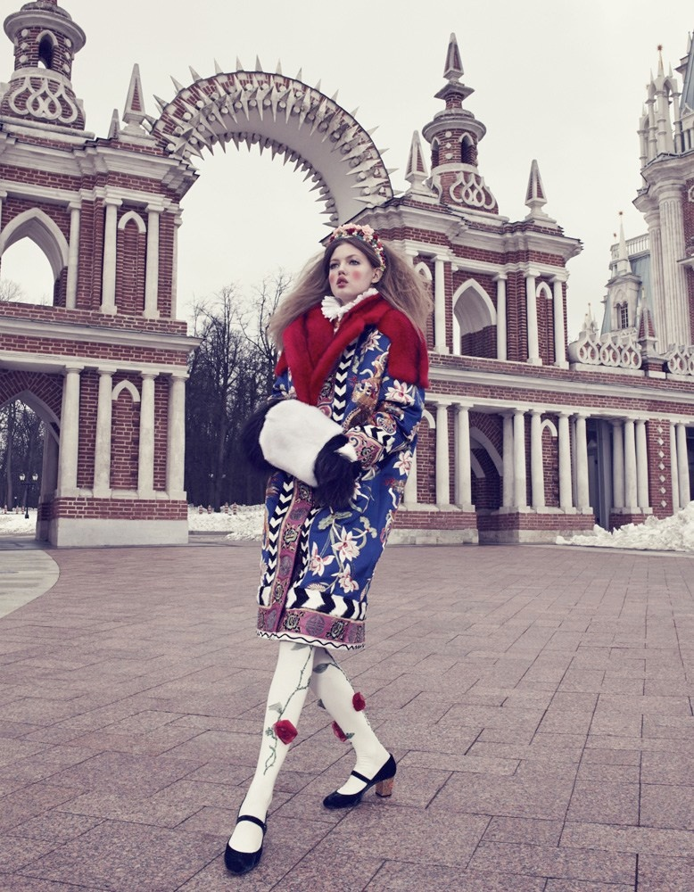 Lindsey Wixson Models Winter Fashions for Emma Summerton in Vogue Japan