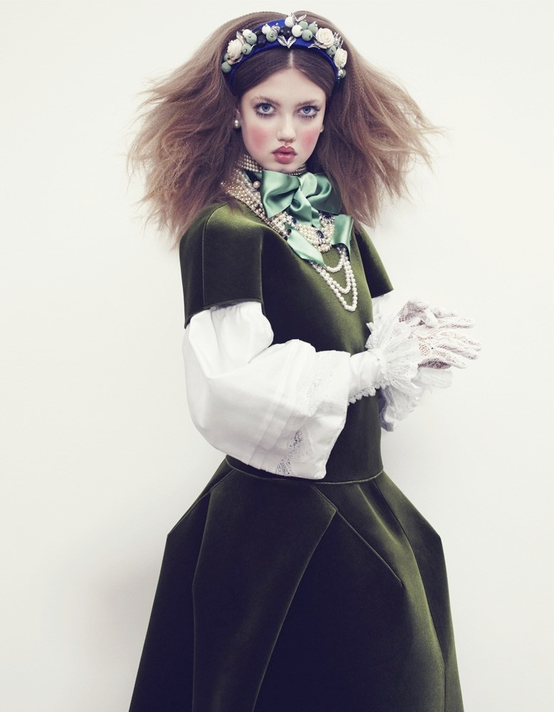 lindsey wixson model11 Lindsey Wixson Models Winter Fashions for Emma Summerton in Vogue Japan