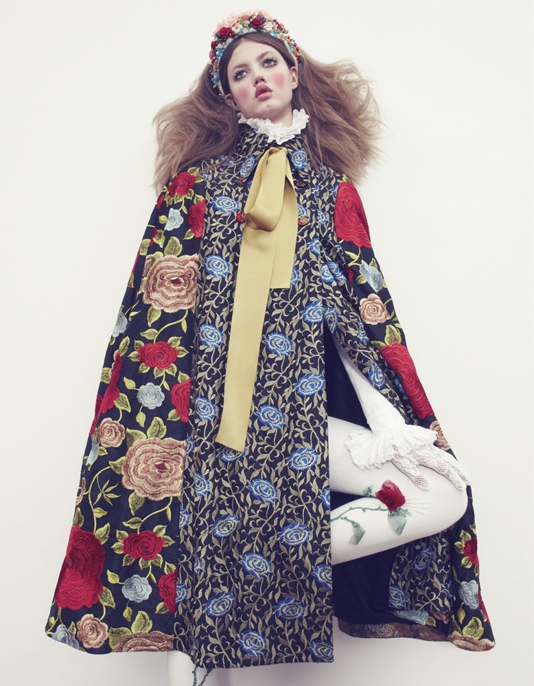 lindsey wixson model12 Lindsey Wixson Models Winter Fashions for Emma Summerton in Vogue Japan