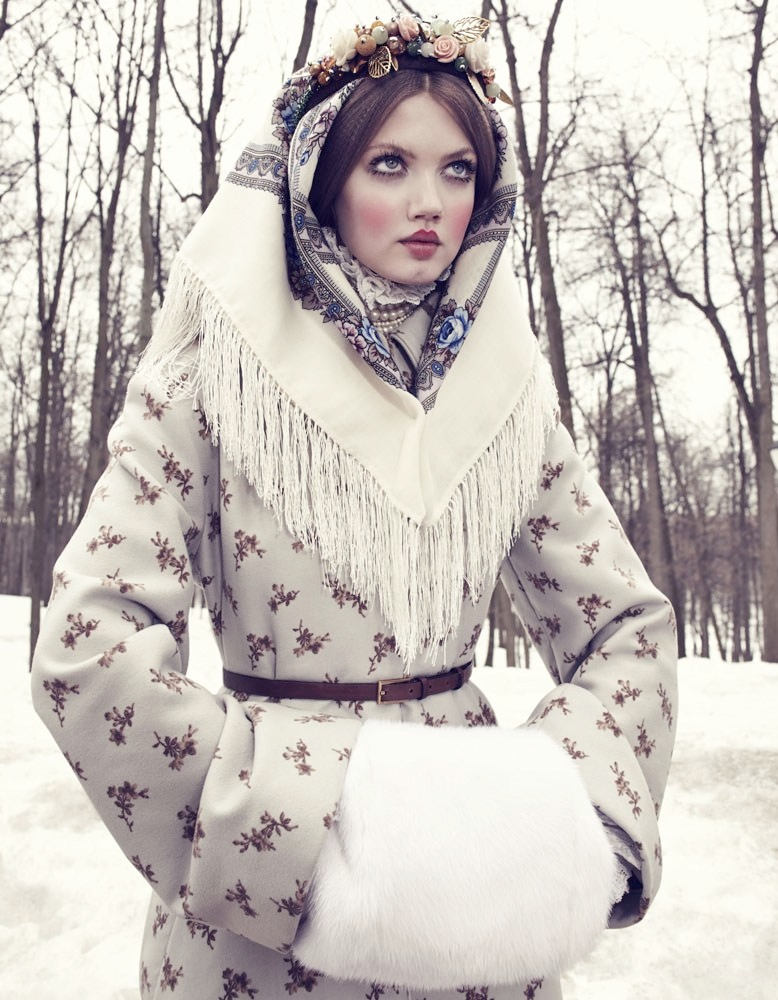 lindsey wixson model7 Lindsey Wixson Models Winter Fashions for Emma Summerton in Vogue Japan
