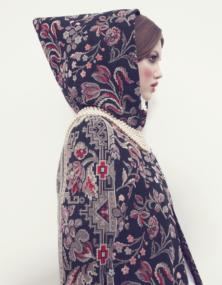 lindsey wixson model9 Lindsey Wixson Models Winter Fashions for Emma Summerton in Vogue Japan