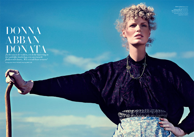 lofficiel philip riches1 Caroline Winberg Enchants for Philip Riches in LOfficiel Netherlands Shoot