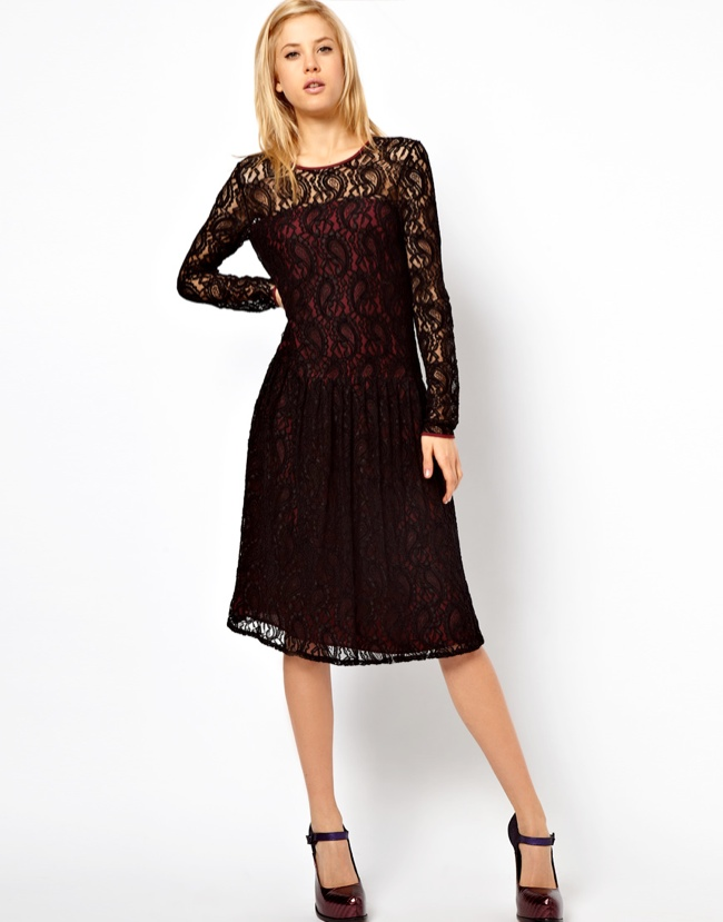long sleeve dress 5 Lace Looks of the Season