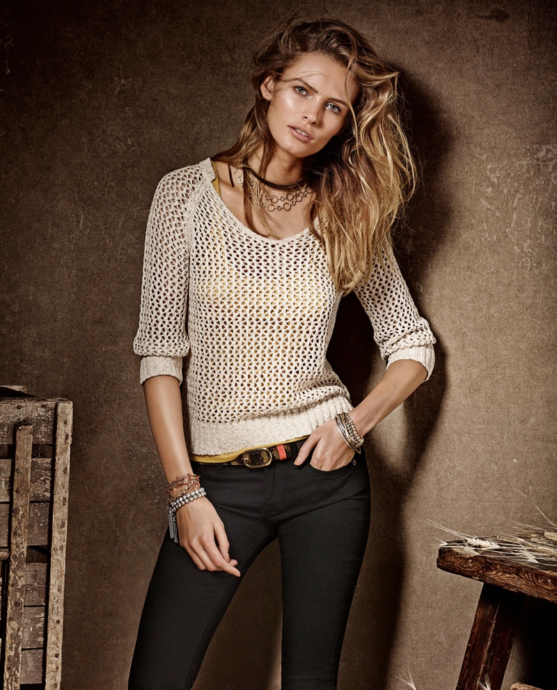 lucky brand campaign4 Edita Vilkeviciute is a Denim Babe for Lucky Brand Fall 2013 Ads