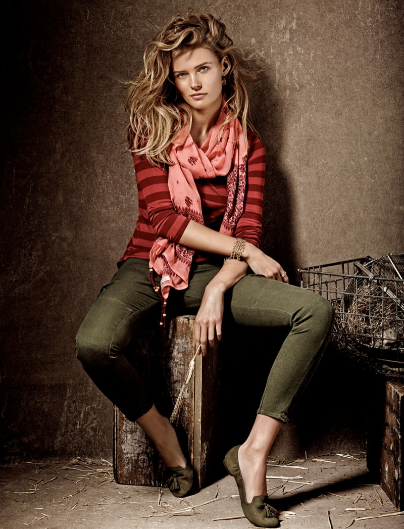 Edita Vilkeviciute is a Denim Babe for Lucky Brand Fall 2013 Ads