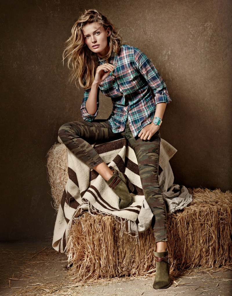 lucky brand campaign6 Edita Vilkeviciute is a Denim Babe for Lucky Brand Fall 2013 Ads