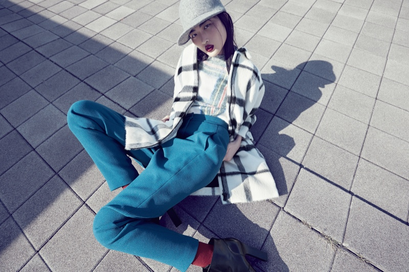 Jing Wen Models Oversized Style for Luisa Via Roma Shoot