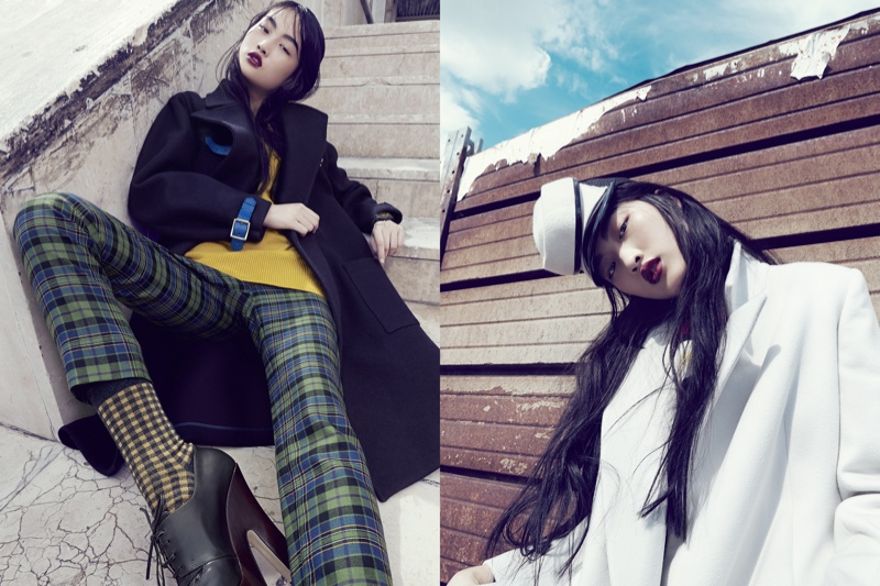 luisa via roma shoot6 Jing Wen Models Oversized Style for Luisa Via Roma Shoot