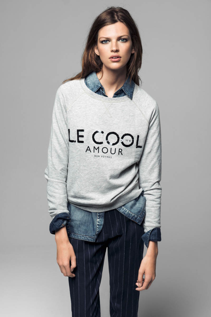 Bette Franke Models Cool Fashion for Mango's Winter Catalogue