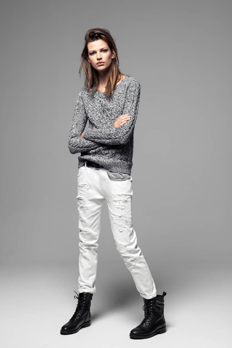 Bette Franke Models Cool Fashion for Mango's Winter