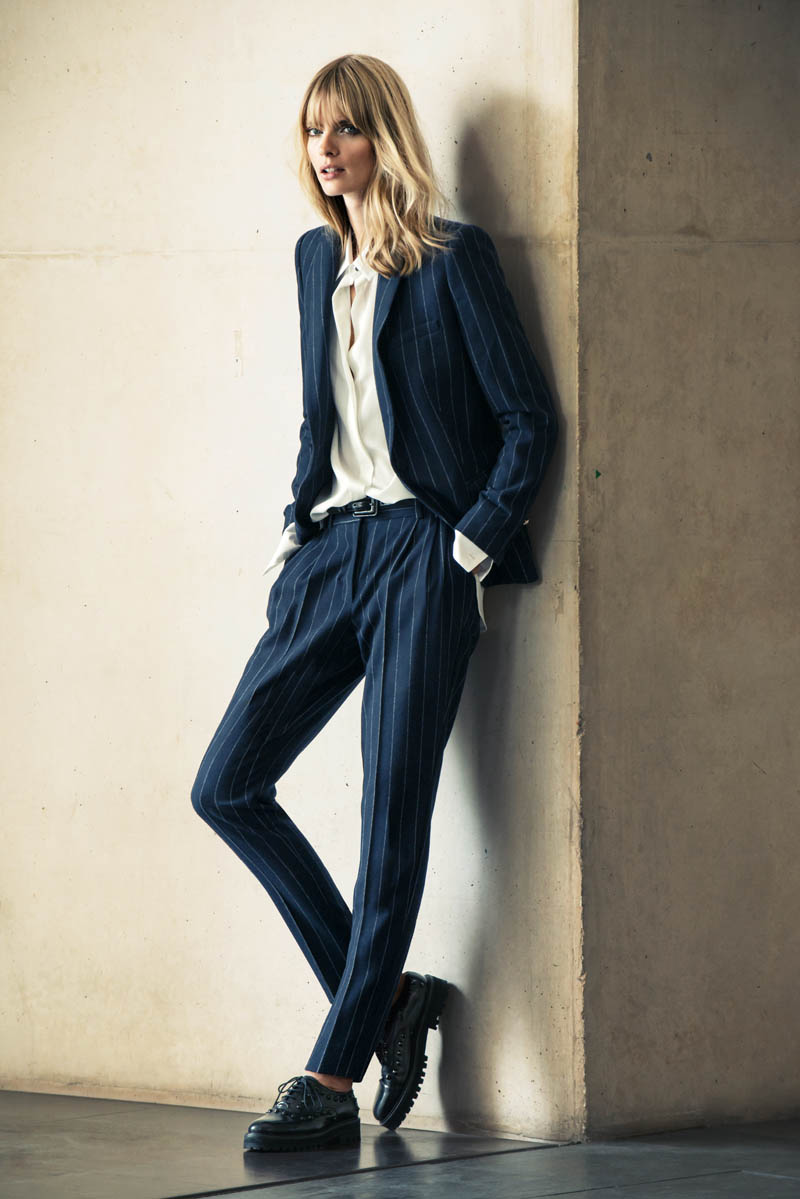 mango winter catalog10 Julia Stegner Wears the Menswear Trend for Mangos Winter Catalogue