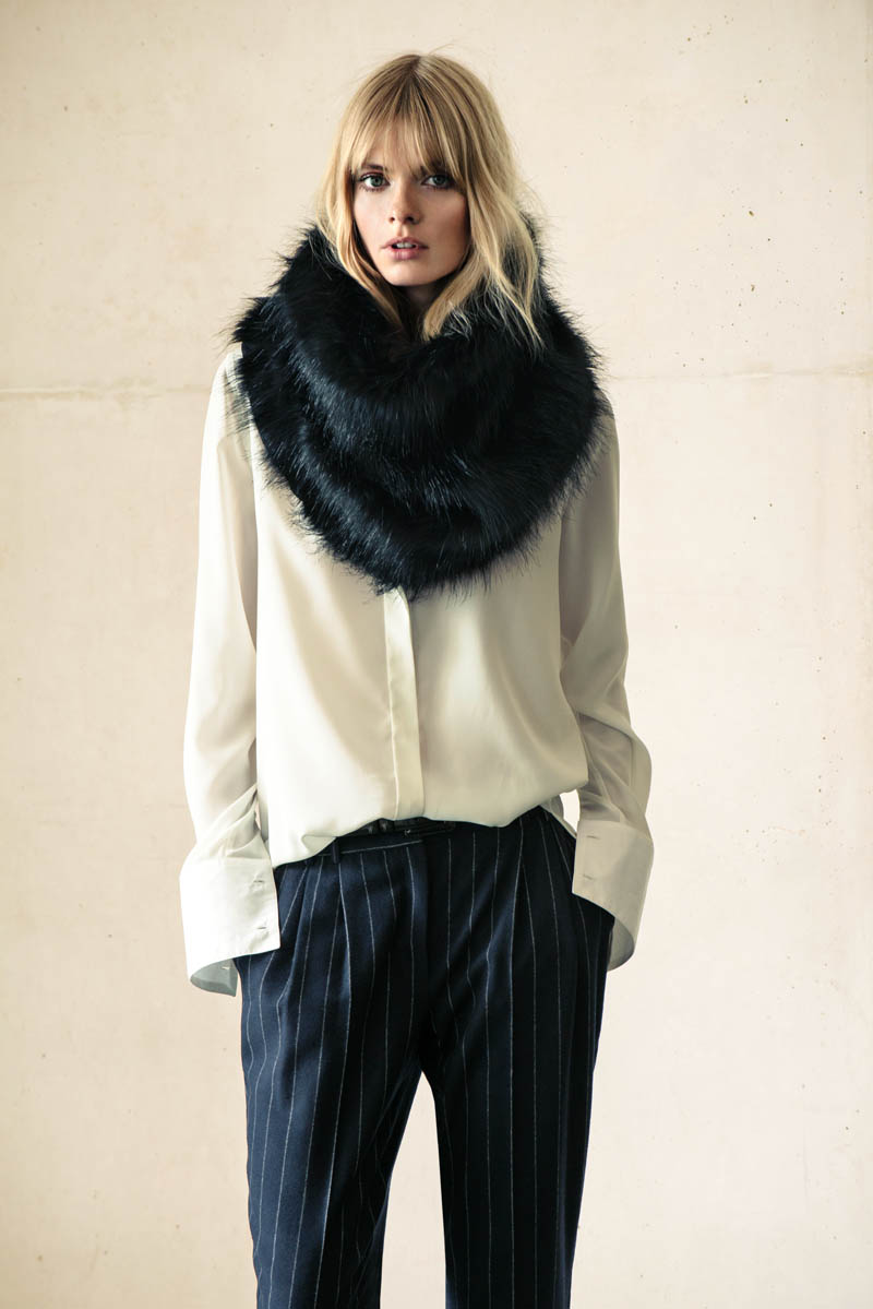 Julia Stegner Wears the Menswear Trend for Mango's Winter Catalogue
