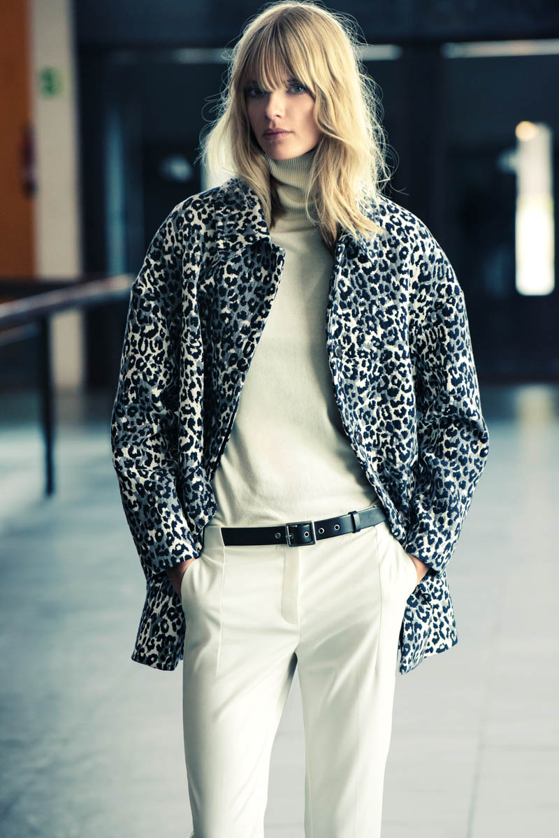 mango winter catalog13 Julia Stegner Wears the Menswear Trend for Mangos Winter Catalogue