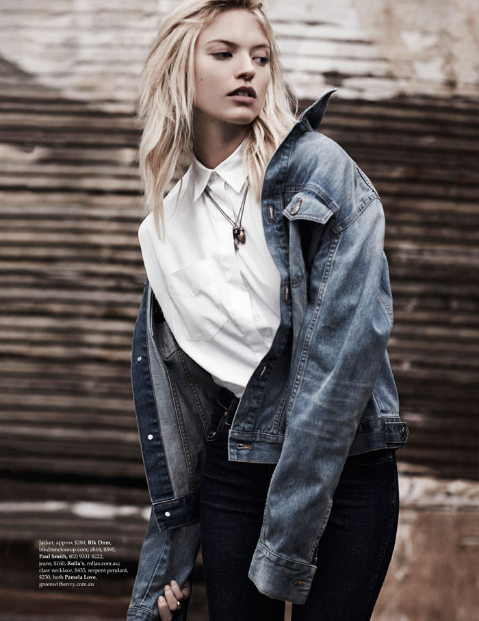 martha hunt model3 Martha Hunt Poses in Denim for Adam Franzino in Elle Australia Shoot