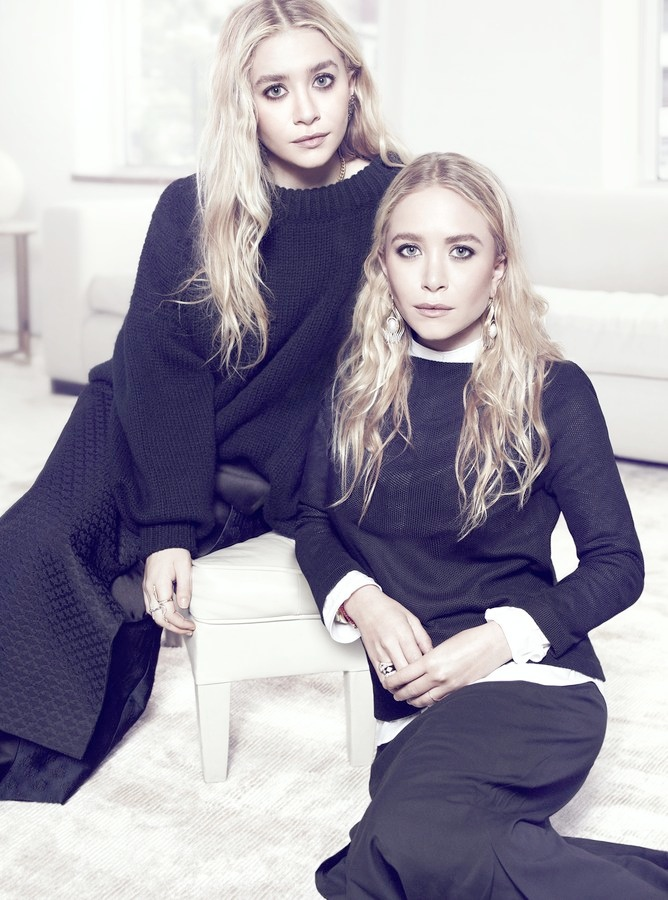 mary kate ashley1 Mary Kate & Ashley Olsen Pose Together for NET A PORTER Feature