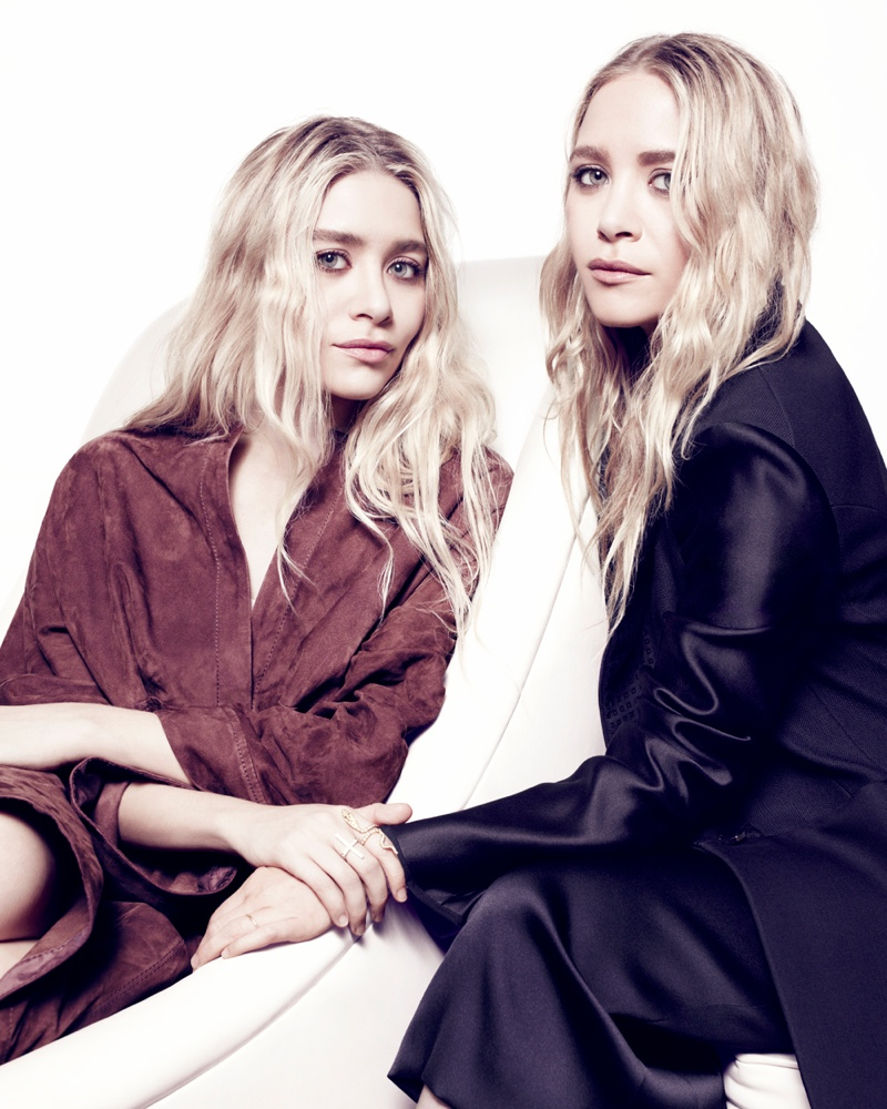 mary kate ashley6 Mary Kate & Ashley Olsen Pose Together for NET A PORTER Feature