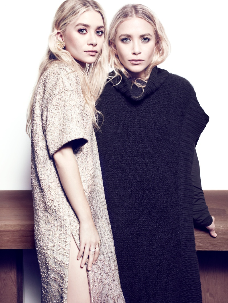 Mary-Kate & Ashley Olsen Pose Together for NET-A-PORTER Feature