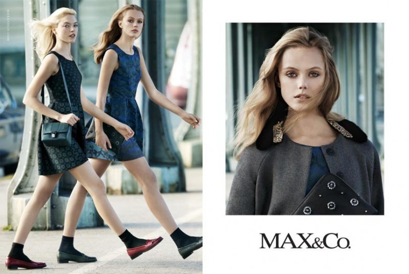 maxandco1 800x537 Frida Gustavsson + Martha Hunt Star in Max&Co. Fall 2013 Ads