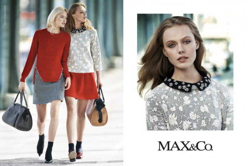 maxandco2 800x536 Frida Gustavsson + Martha Hunt Star in Max&Co. Fall 2013 Ads