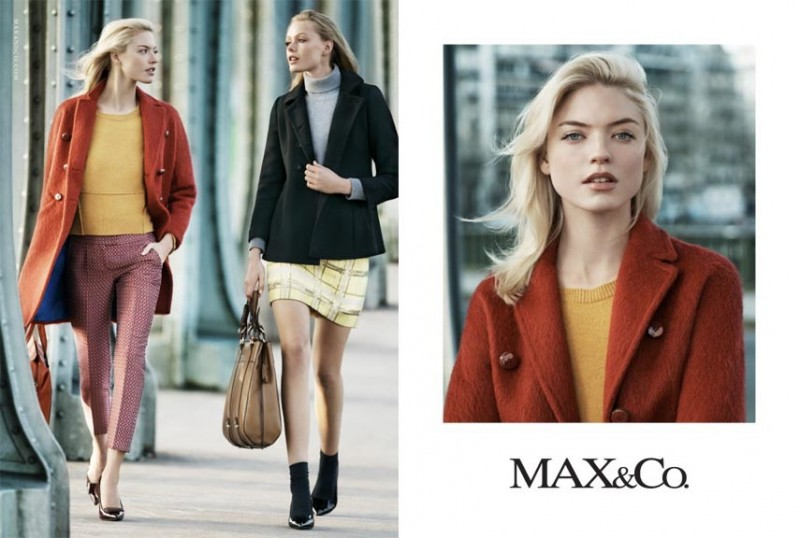 maxandco3 800x538 Frida Gustavsson + Martha Hunt Star in Max&Co. Fall 2013 Ads
