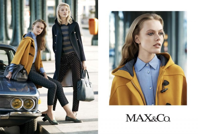 maxandco4 800x542 Frida Gustavsson + Martha Hunt Star in Max&Co. Fall 2013 Ads