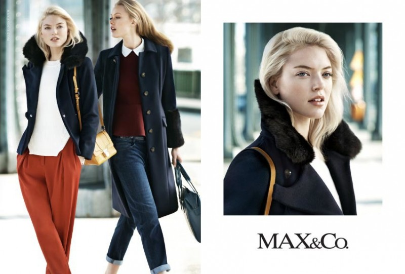 maxandco5 800x541 Frida Gustavsson + Martha Hunt Star in Max&Co. Fall 2013 Ads