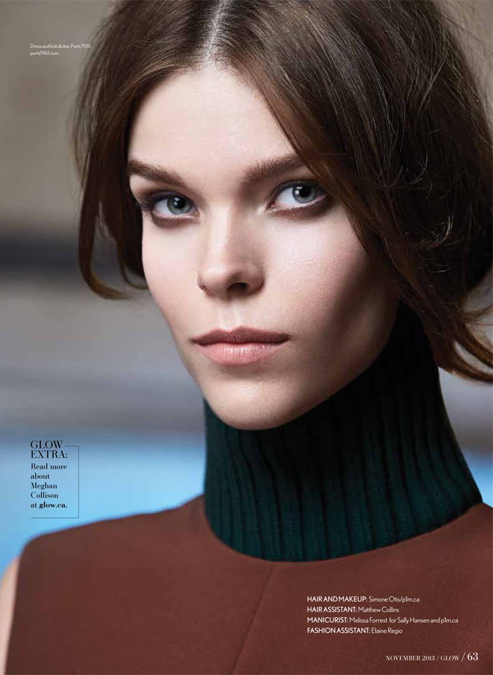 Meghan Collison Stars in Glow's November 2013 Cover Story