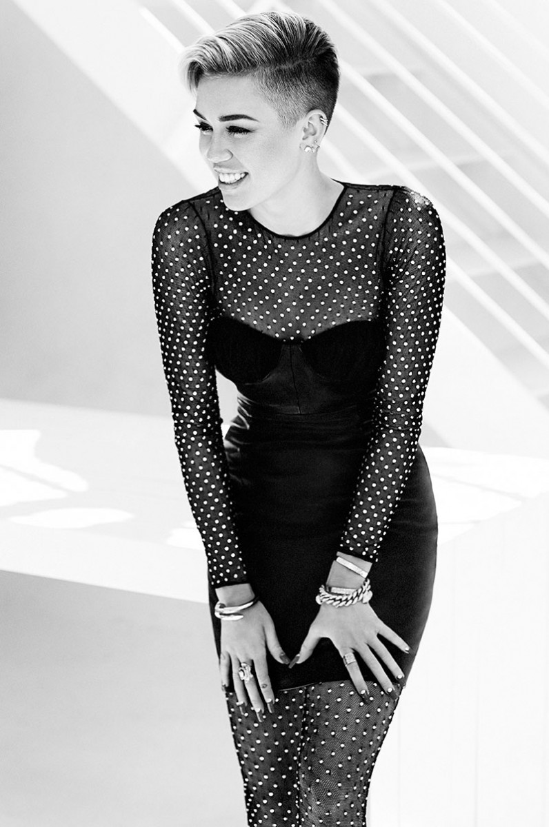 Miley Cyrus Poses for Chris Nicholls in Fashion November 2013 Issue