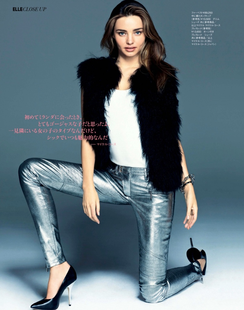 miranda kerr chris cholls3 Miranda Kerr Stuns for Chris Colls in December Cover Shoot of Elle Japan