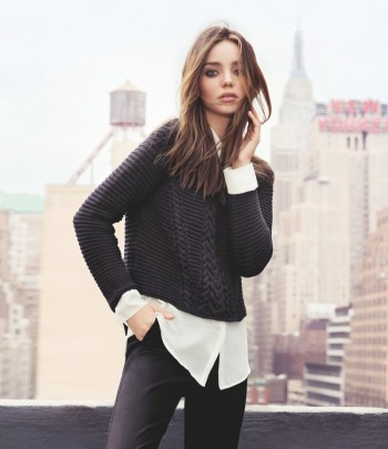 Miranda Kerr Poses for Inez & VInoodh in Mango's Winter 2013 Campaign