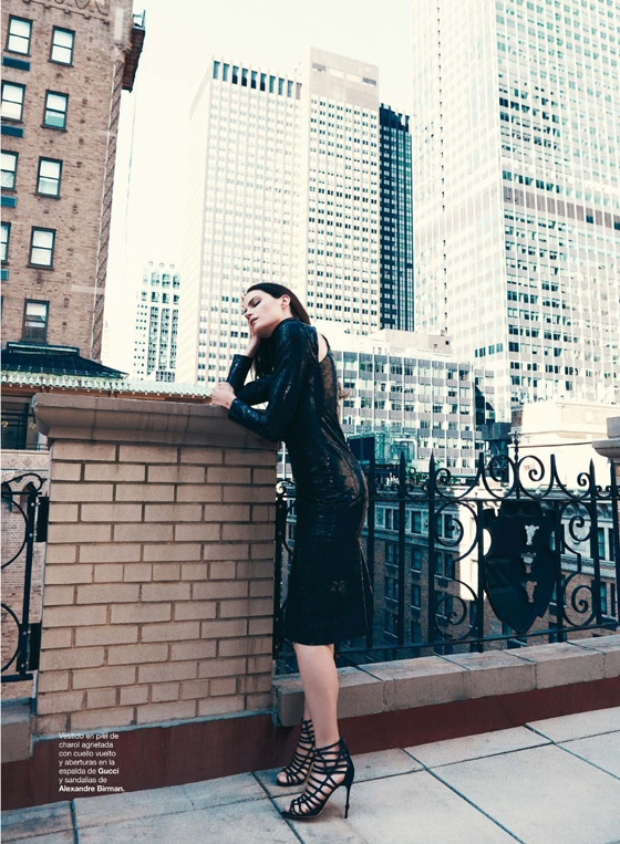Missy Rayder Gets Glam in Harper's Bazaar Spain by Nagi Sakai