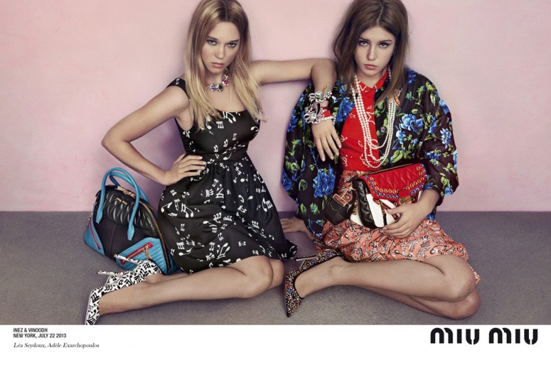 miu miu resort ad2 800x533 Miu Miu Enlists Léa Seydoux & Adèle Exarchopoulos for Resort 2014 Ads