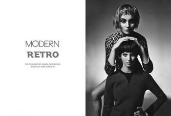 "Marie & Mie by Mariya Pepelanova in ""Modern Retro"" for Fashion Gone Rogue"