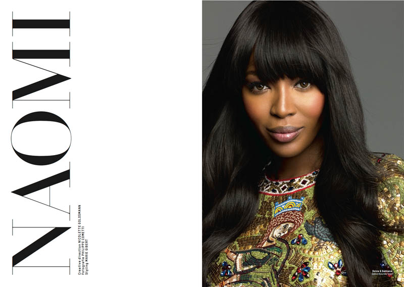 naomi campbell lofficiel1 Naomi Campbell Stars in the 5th Anniversary Issue of LOfficiel Netherlands