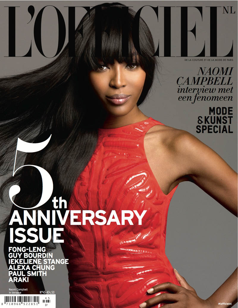 naomi campbell lofficiel6 Naomi Campbell Stars in the 5th Anniversary Issue of LOfficiel Netherlands