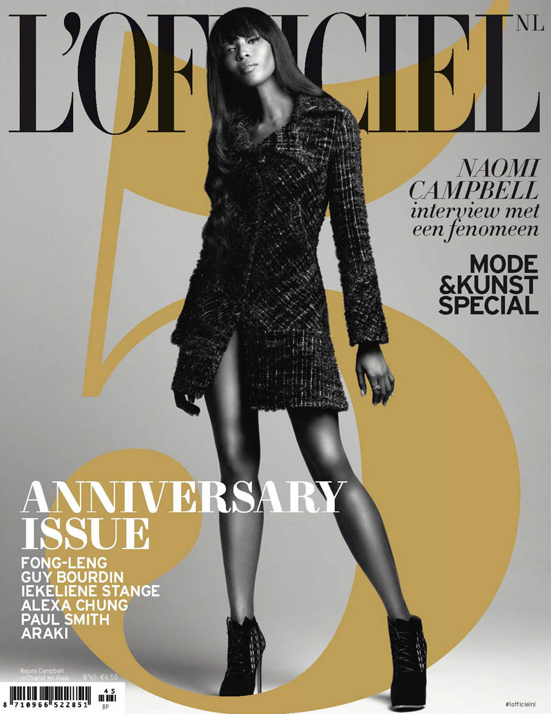 naomi campbell lofficiel7 Naomi Campbell Stars in the 5th Anniversary Issue of LOfficiel Netherlands