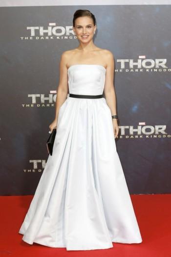 "Natalie Portman in Dior Haute Couture at ""Thor: The Dark World"" Berlin Premiere"