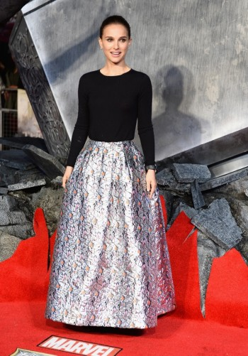 "Natalie Portman Wears Dior at ""Thor: The Dark World"" London Premiere"
