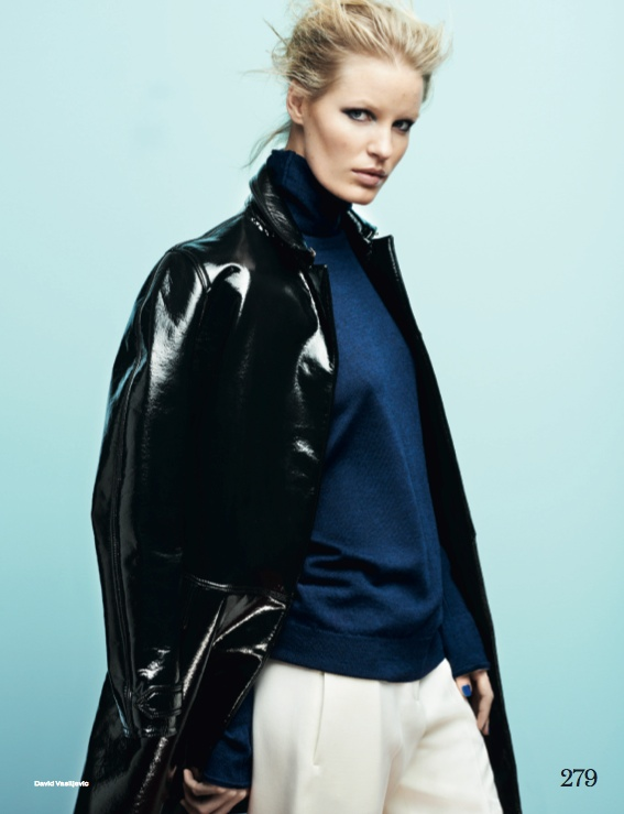 navy fashion11 Caroline Winberg Dons Navy Looks for Elle UK by David Vasiljevic