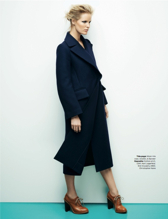 navy fashion6 Caroline Winberg Dons Navy Looks for Elle UK by David Vasiljevic