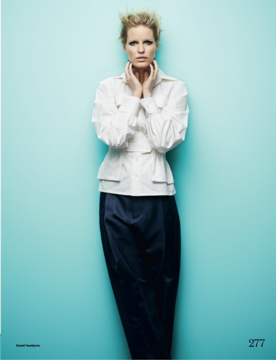 navy fashion9 Caroline Winberg Dons Navy Looks for Elle UK by David Vasiljevic