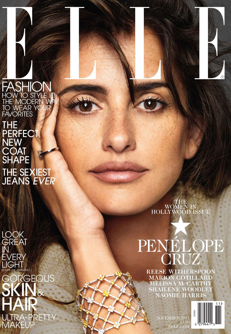penelope elle cover Reese Witherspoon, Penelope Cruz, Shailene Woodley + Melissa McCartney for Elle November 2013 Cover Story