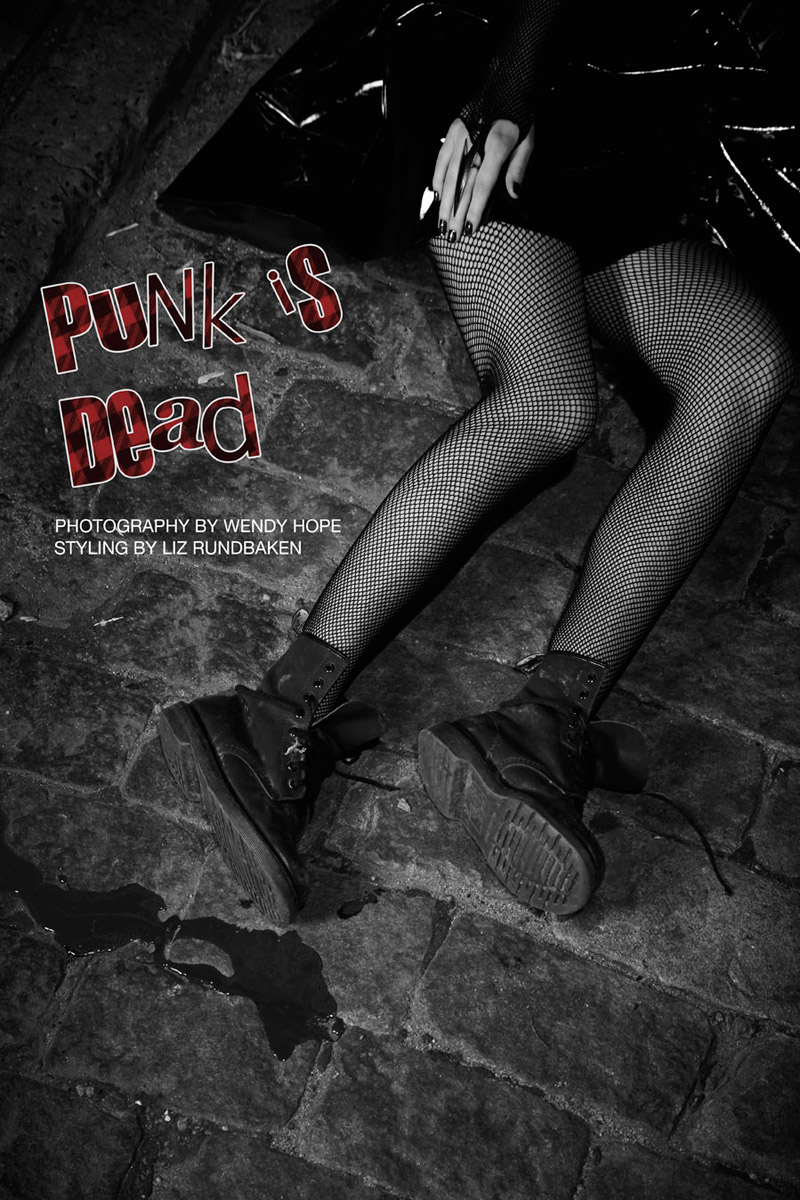 punk is dead title Pernilla & Vanessa by Wendy Hope in Punk is Dead for Fashion Gone Rogue
