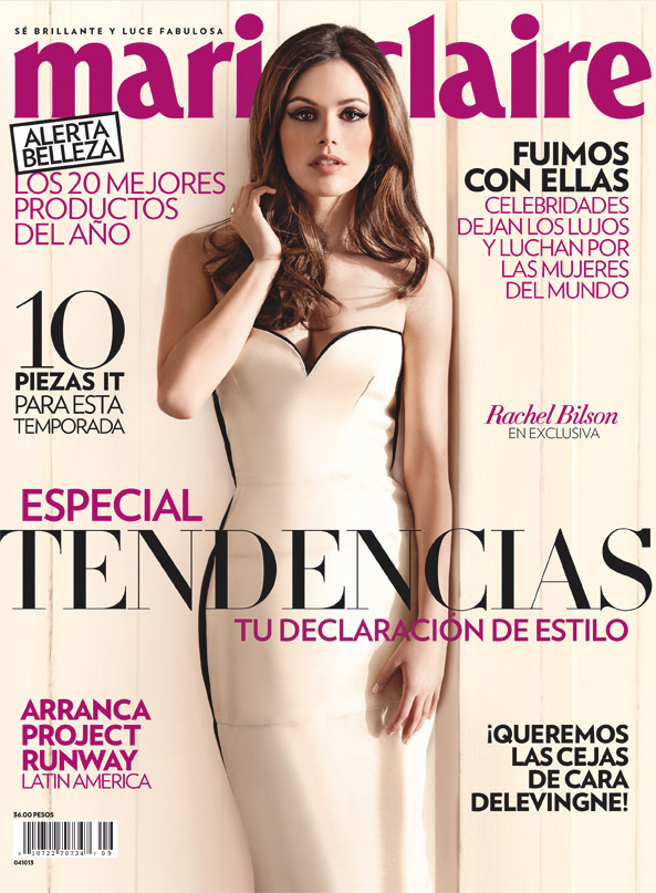 rachel bilson8 Rachel Bilson Poses for Frankie Battista in Marie Claire Mexico Cover Story