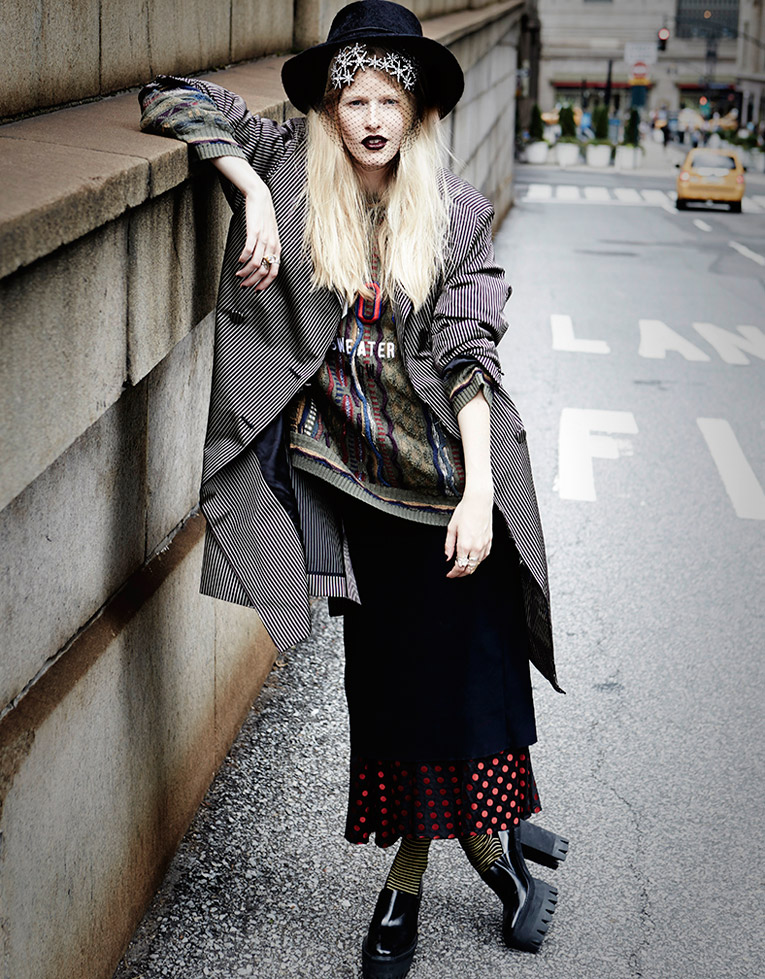 rebel elle shoot5 Louise Parker is a Rebel for Elle Australia Feature by Manolo Campion