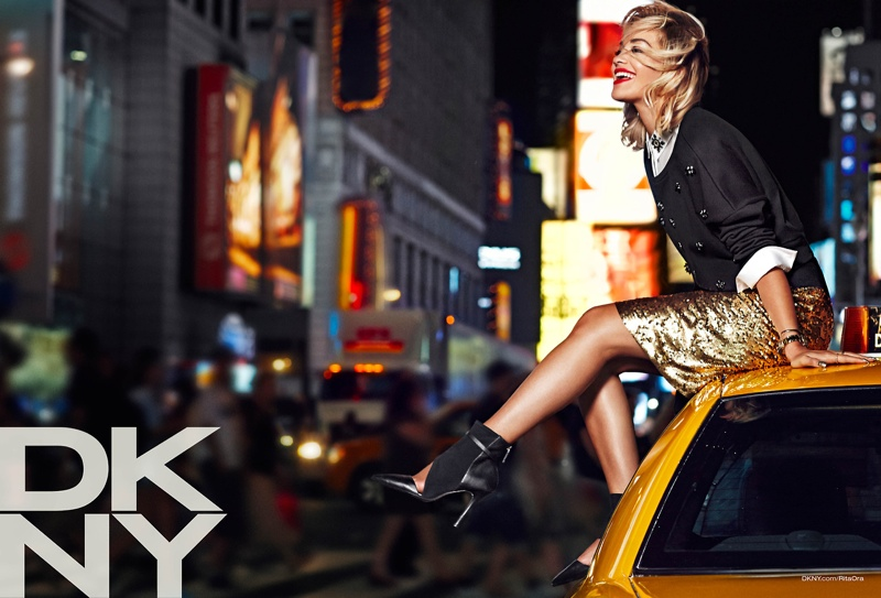 See Rita Ora in the DKNY Resort 2014 Campaign
