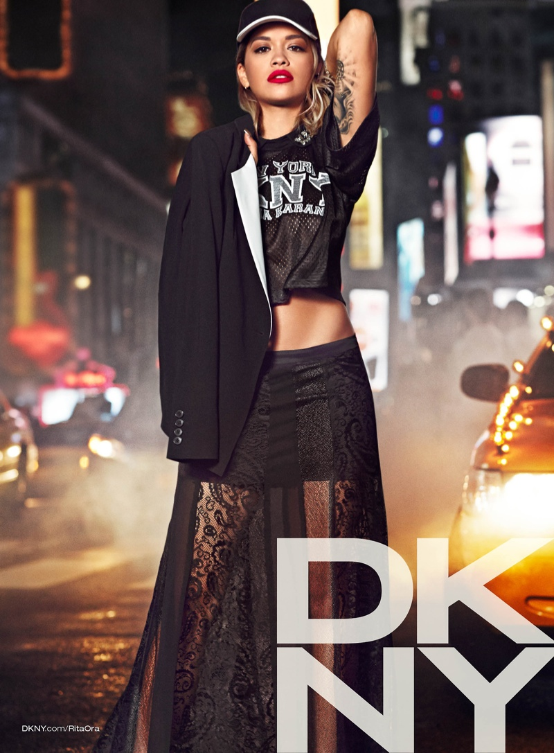 rita ora dkny campaign6 See Rita Ora in the DKNY Resort 2014 Campaign